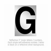 Salsbury 1215-G 3 Inch Reflective Letter G