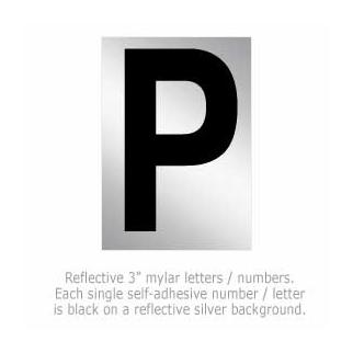 Salsbury 1215-P 3 Inch Reflective Letter P