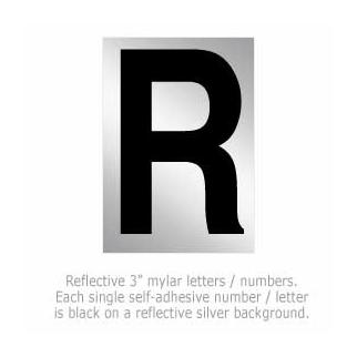 Salsbury 1215-R 3 Inch Reflective Letter R