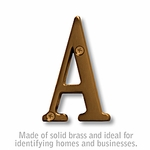 3 Inch Solid Brass - Antique Finish Letters