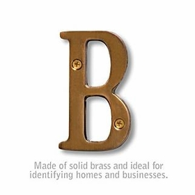 Salsbury 1240A-B 3 Inch Solid Brass Letter Antique Finish B