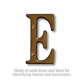 Salsbury 1240A-E 3 Inch Solid Brass Letter Antique Finish E