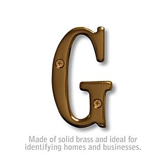 Salsbury 1240A-G 3 Inch Solid Brass Letter Antique Finish G