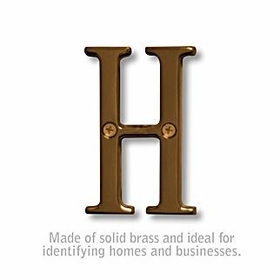 Salsbury 1240A-H 3 Inch Solid Brass Letter Antique Finish H