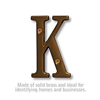 Salsbury 1240A-K 3 Inch Solid Brass Letter Antique Finish K