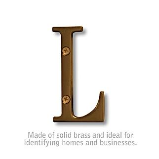 Salsbury 1240A-L 3 Inch Solid Brass Letter Antique Finish L