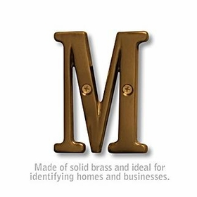 Salsbury 1240A-M 3 Inch Solid Brass Letter Antique Finish M