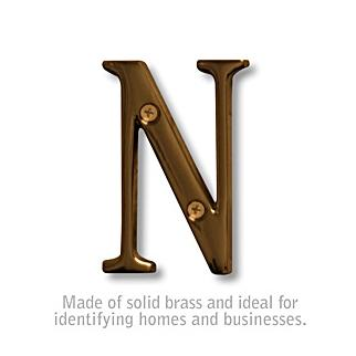 Salsbury 1240A-N 3 Inch Solid Brass Letter Antique Finish N