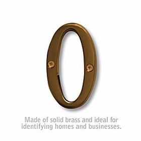 Salsbury 1240A-O 3 Inch Solid Brass Letter Antique Finish O