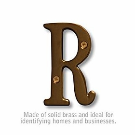 Salsbury 1240A-R 3 Inch Solid Brass Letter Antique Finish R