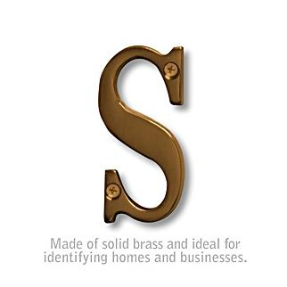 Salsbury 1240A-S 3 Inch Solid Brass Letter Antique Finish S