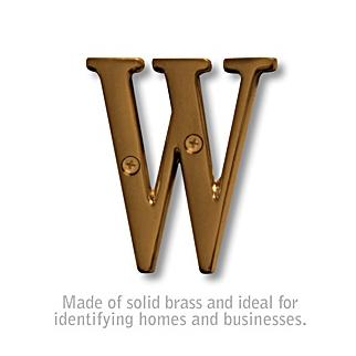 Salsbury 1240A-W 3 Inch Solid Brass Letter Antique Finish W