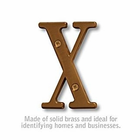 Salsbury 1240A-X 3 Inch Solid Brass Letter Antique Finish X