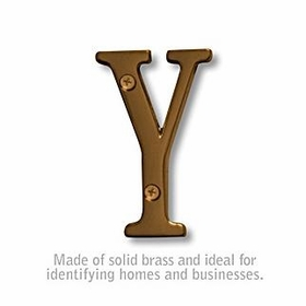 Salsbury 1240A-Y 3 Inch Solid Brass Letter Antique Finish Y