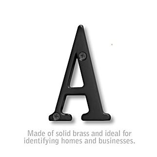 Salsbury 1240BLK-A 3 Inch Solid Brass Letter Black Finish A