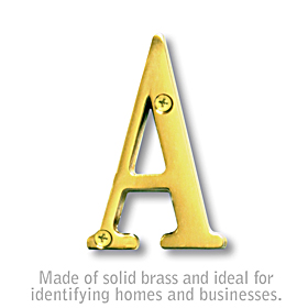 3 Inch Brass Letters