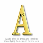 3 Inch Solid Brass - Brass Finish Letters