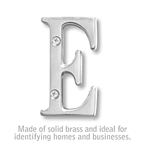 Salsbury 1240C-E 3 Inch Solid Brass Letter Chrome Finish E