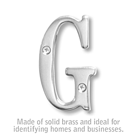 Salsbury 1240C-G 3 Inch Solid Brass Letter Chrome Finish G