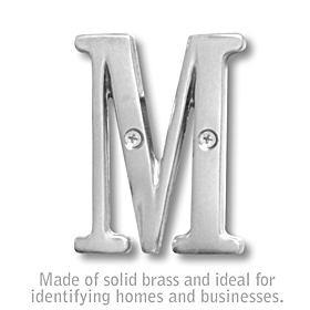 Salsbury 1240C-M 3 Inch Solid Brass Letter Chrome Finish M