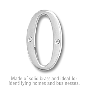 Salsbury 1240C-O 3 Inch Solid Brass Letter Chrome Finish O