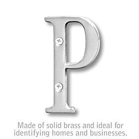 Salsbury 1240C-P 3 Inch Solid Brass Letter Chrome Finish P