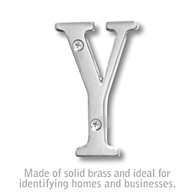 Salsbury 1240C-Y 3 Inch Solid Brass Letter Chrome Finish Y