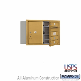 Salsbury 3705D-03GFU 4C Mailboxes 3 Tenant Doors Front Loading