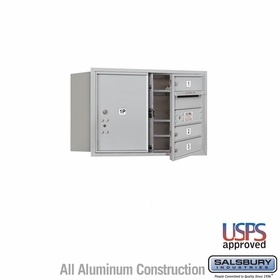 Salsbury 3705D-03AFU 4C Mailboxes 3 Tenant Doors Front Loading