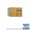 Salsbury 3705D-03GRP 4C Mailboxes 3 Tenant Doors Rear Loading