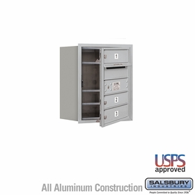 Salsbury 3705S-03AFU 4C Mailboxes 3 Tenant Doors Front Loading