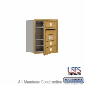 Salsbury 3705S-03GFU 4C Mailboxes 3 Tenant Doors Front Loading