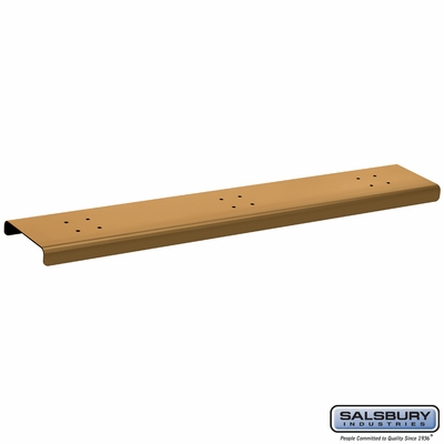 Salsbury 4383D-BRS 3 Wide Spreader For Designer Roadside Mailbox Brass Finish
