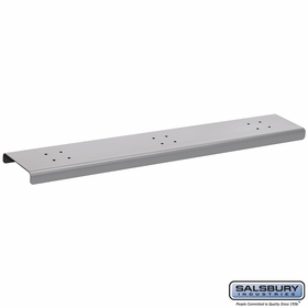 Salsbury 4383SLV 3 Wide Spreader For Roadside Mailboxes Silver