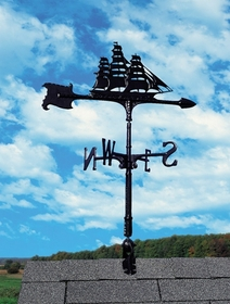 "Whitehall 30"" Accent Directions Maritime CLIPPER Weathervane in Black"
