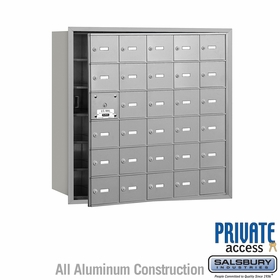 4B Mailboxes 30 Doors (29 Usable) Front Loading - Private Use