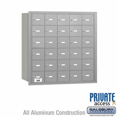 Salsbury 3630ARP 4B Mailboxes 30 Tenant Doors Rear Loading - Private Access
