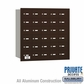 Salsbury 3630ZRP 4B Mailboxes 30 Tenant Doors Rear Loading - Private Access