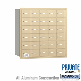 Salsbury 3630SRP 4B Mailboxes 30 Tenant Doors Rear Loading - Private Access