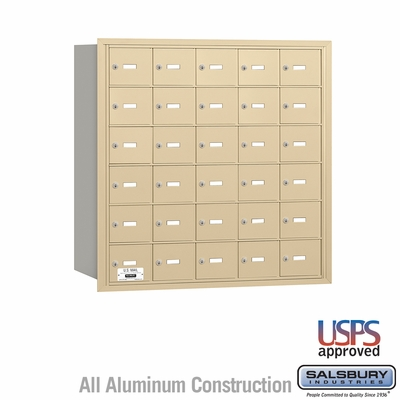 Salsbury 3630SRU 4B Mailboxes 30 Tenant Doors Rear Loading - USPS Access