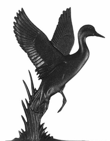 "Whitehall 30"" Traditional Directiona DUCK Weathervane in Black for Roof or Garden"