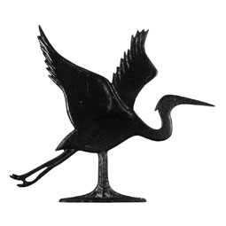 "Whitehall 30"" Traditional Directions BLUE HERON Weathervane in Black for Roof or Garden"