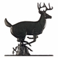 """Whitehall 30"""" Traditional Directions BUCK Weathervane in Black for Roof or Garden"""