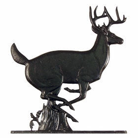 "Whitehall 30"" Traditional Directions BUCK Weathervane in Black for Roof or Garden"