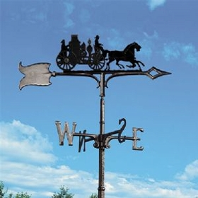 "Whitehall 30"" Traditional Directions FIRE WAGON Weathervane in Black for Roof or Garden"