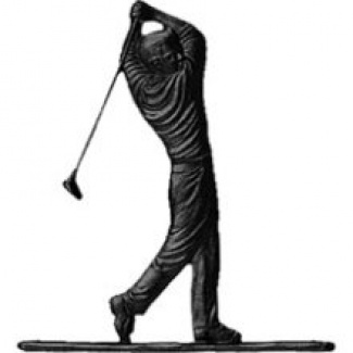 """Whitehall 30"""" Traditional Directions GOLFER Weathervane in Black for Roof or Garden"""