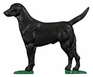 "Whitehall 30"" Traditional Directions Life-Like MultiColor Black Lab Weathervane for Roof or Garden"