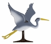 "Whitehall 30"" Traditional Directions Life-Like MultiColor BLUE HERON Weathervane for Roof or Garden"