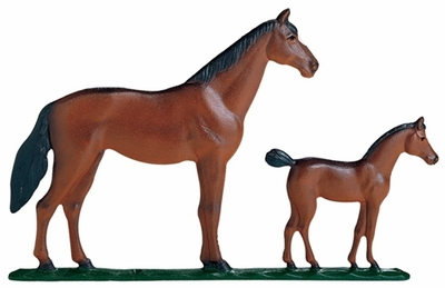 Whitehall 30 in. Traditional Directions Life-Like MultiColor HORSE (Mare and Colt) Weathervane for Roof or Garden