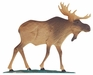 """Whitehall 30"""" Traditional Directions Life-Like MultiColor MOOSE Weathervane for Roof or Garden"""